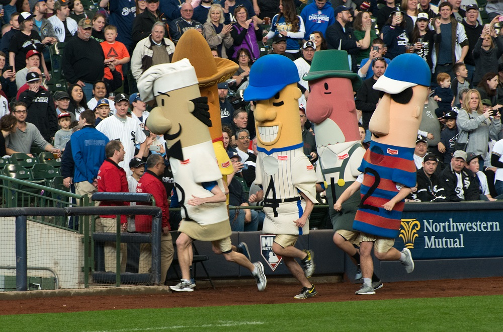 Running of the Sausages at Miller Park