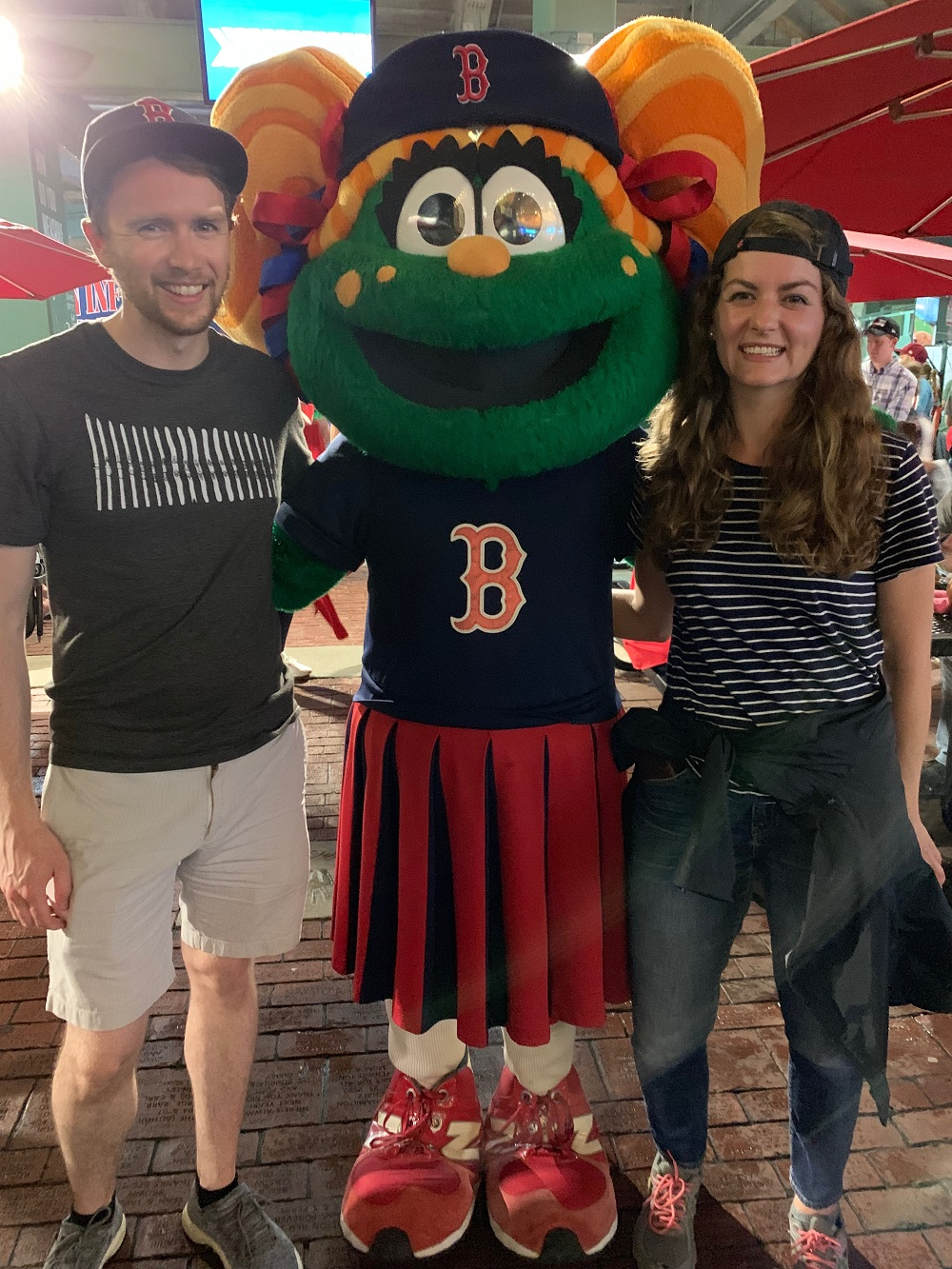 Tessie with Red Sox Fans