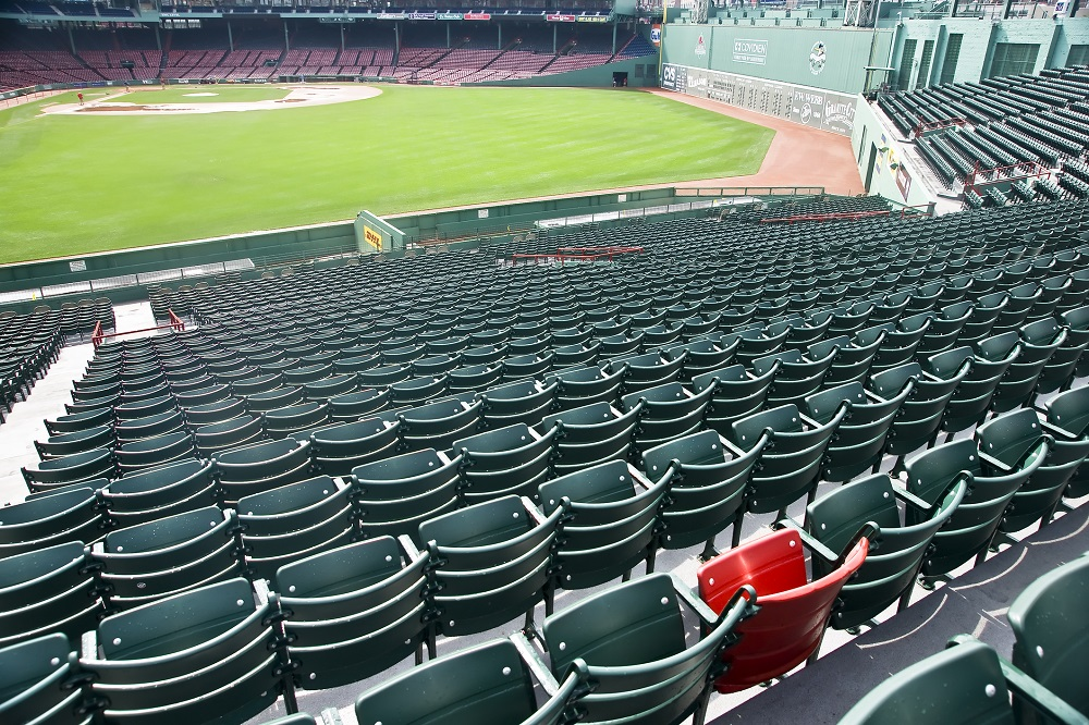 What is the lone red seat at Fenway Park