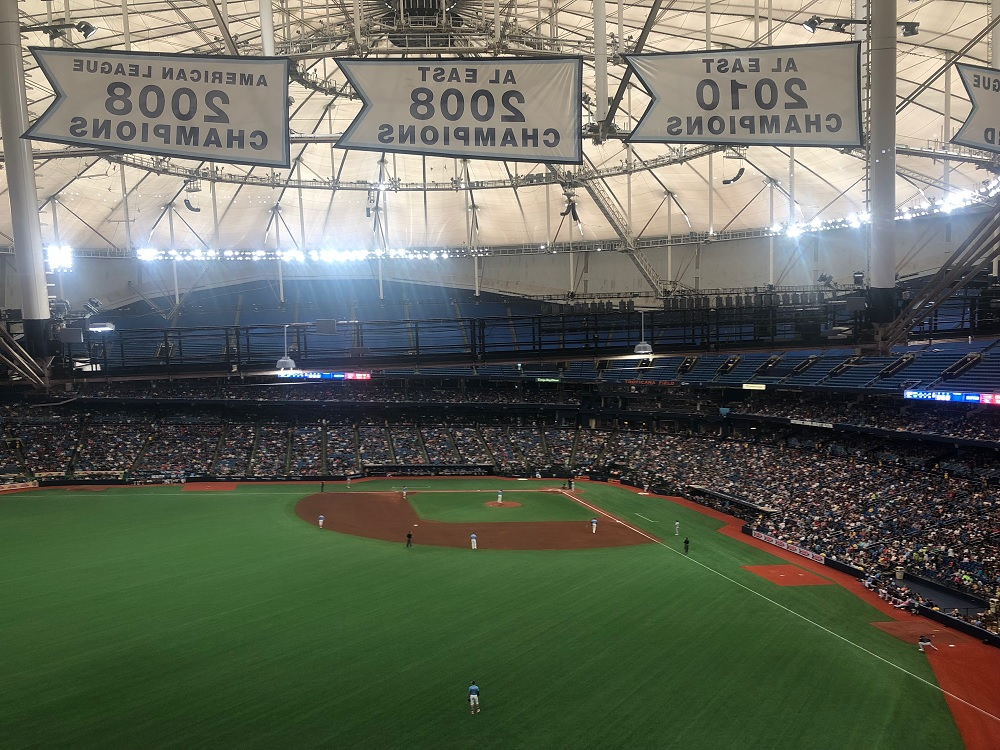 obstructed view at tropicana field