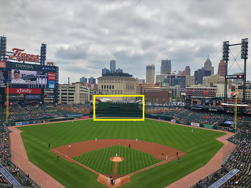 All baseball stadiums have a different batters eye