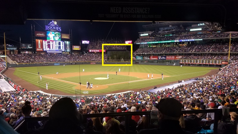 what is the batters eye in baseball