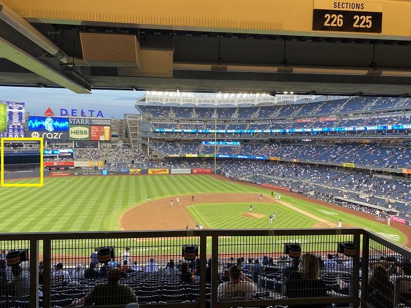 yankee stadium batters eye
